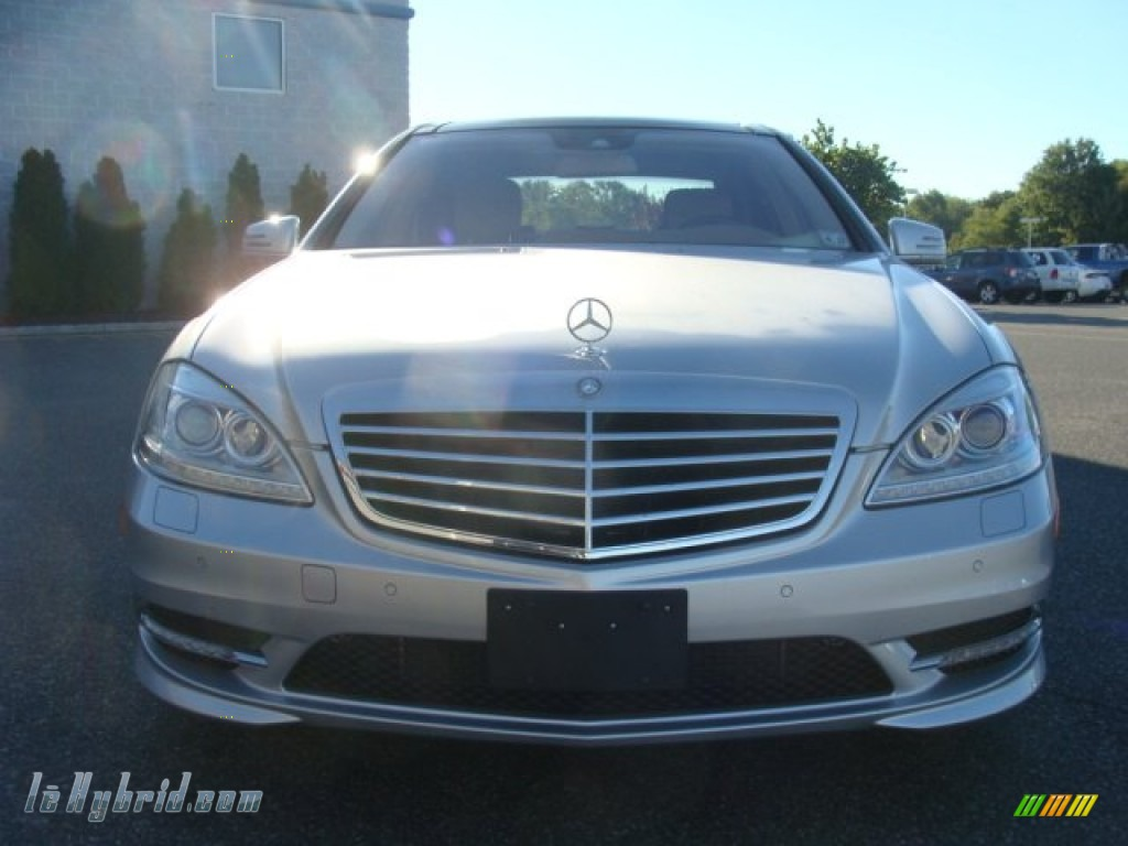 2012 S 400 Hybrid Sedan - Iridium Silver Metallic / Cashmere/Savanna photo #2