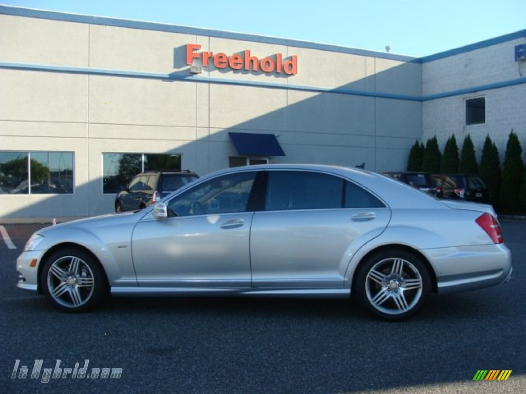 2012 S 400 Hybrid Sedan - Iridium Silver Metallic / Cashmere/Savanna photo #3