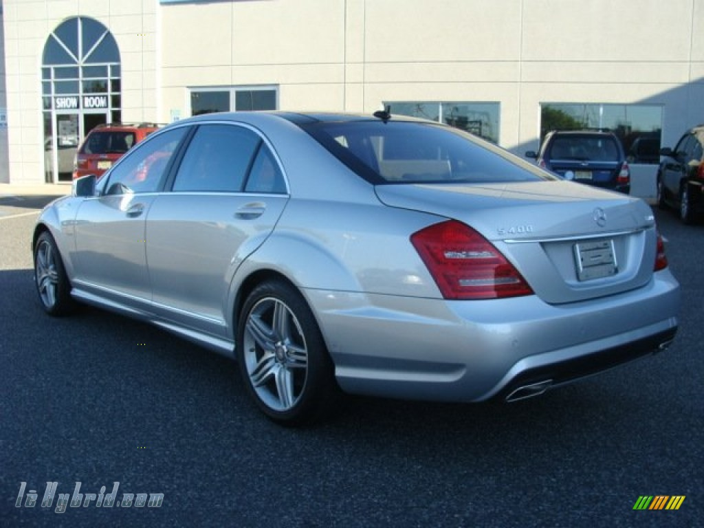 2012 S 400 Hybrid Sedan - Iridium Silver Metallic / Cashmere/Savanna photo #4