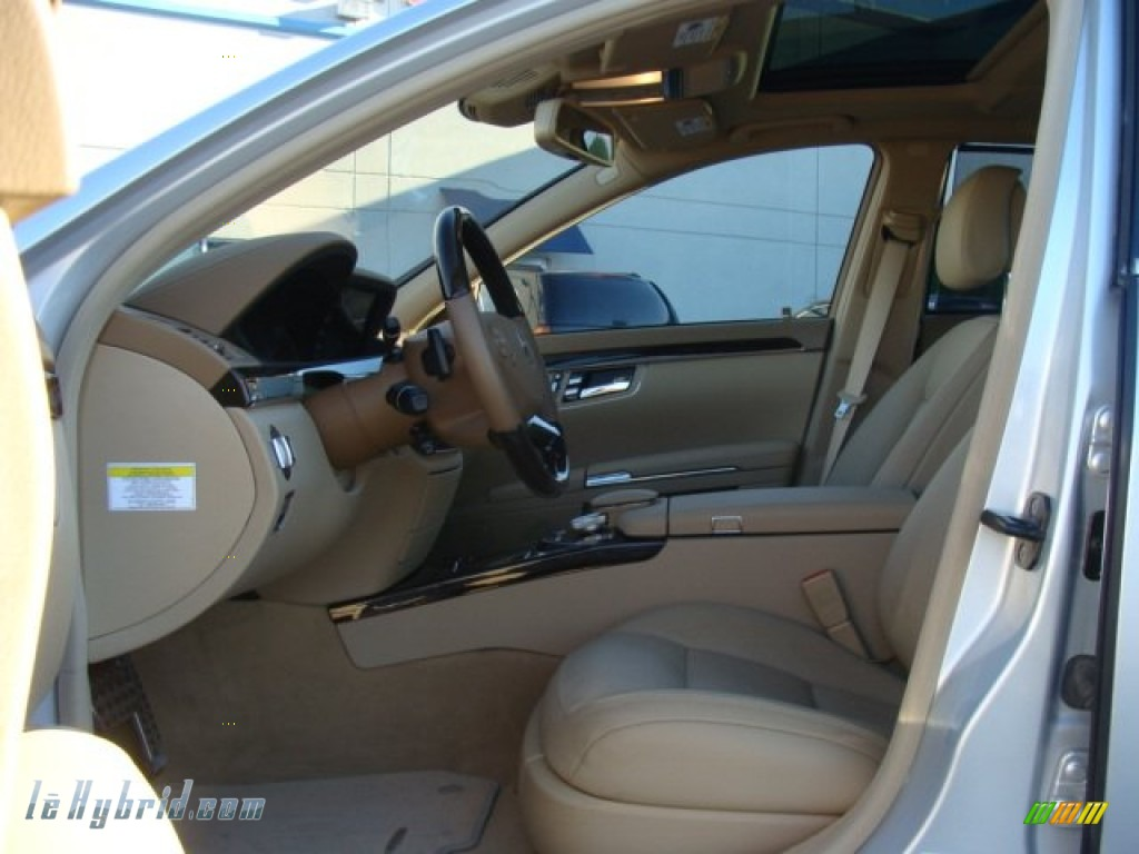 2012 S 400 Hybrid Sedan - Iridium Silver Metallic / Cashmere/Savanna photo #9