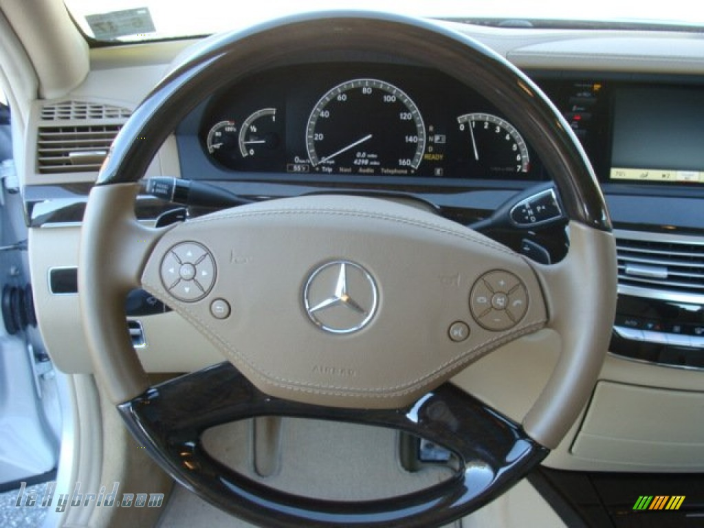 2012 S 400 Hybrid Sedan - Iridium Silver Metallic / Cashmere/Savanna photo #12