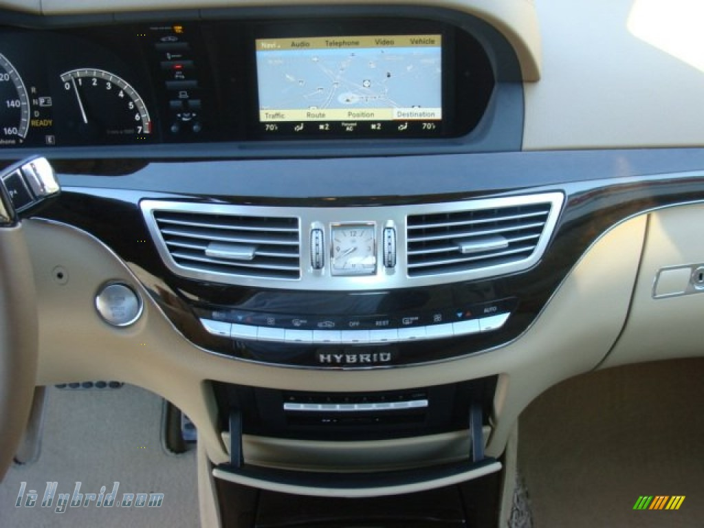 2012 S 400 Hybrid Sedan - Iridium Silver Metallic / Cashmere/Savanna photo #14