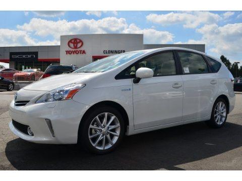 Blizzard White Pearl 2013 Toyota Prius v Five Hybrid