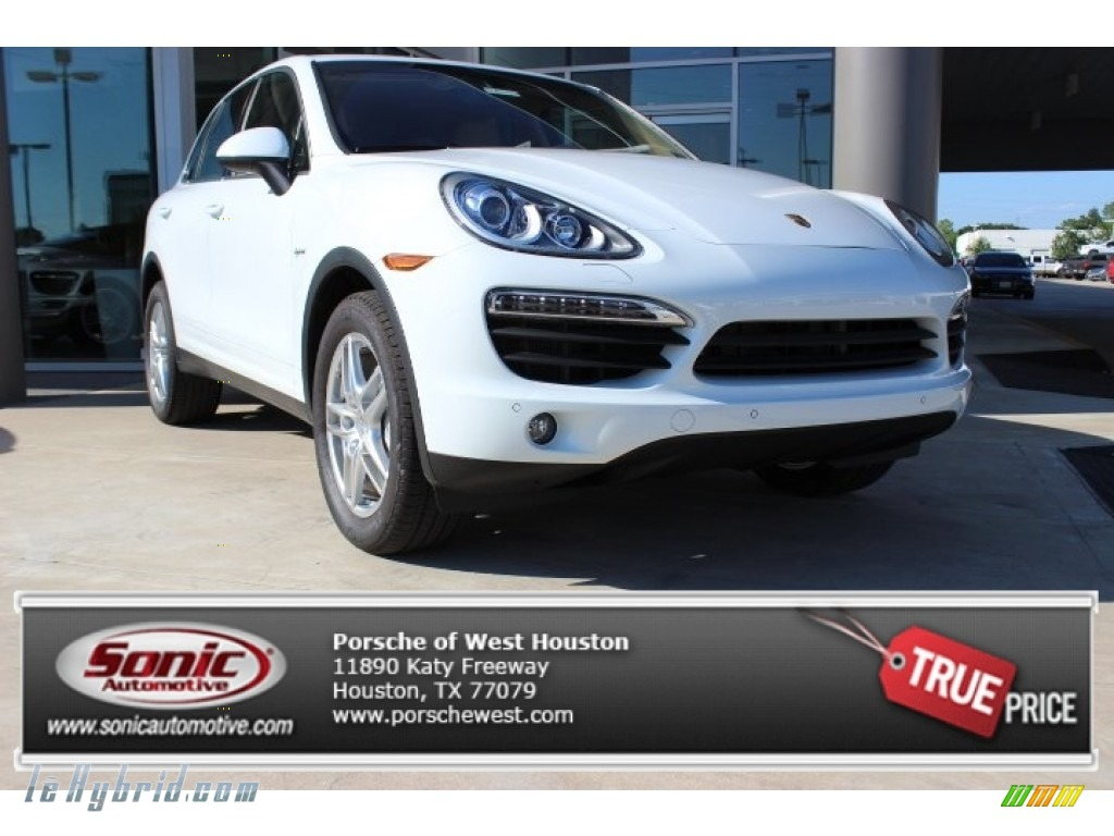 2014 Cayenne S Hybrid - White / Luxor Beige photo #1