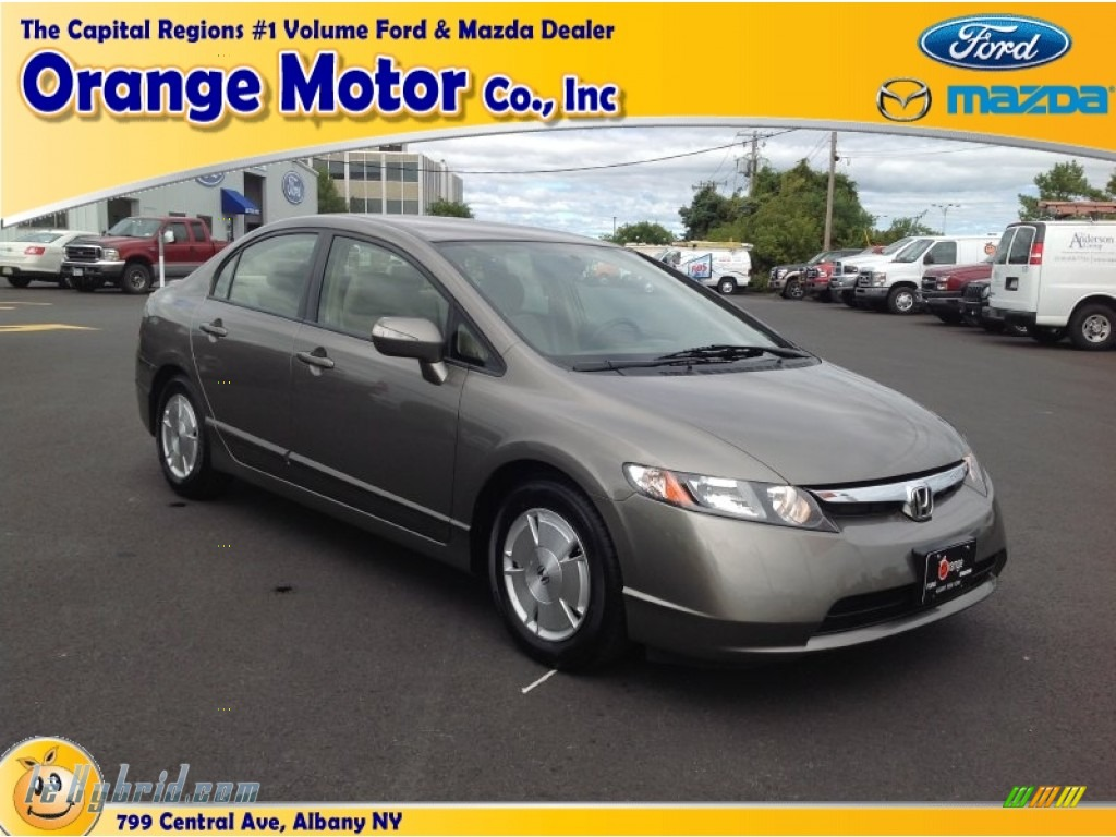 2008 honda civic hybrid sedan in galaxy gray metallic for Orange motors albany new york