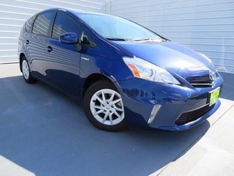 Blue Ribbon Metallic 2013 Toyota Prius v Three Hybrid