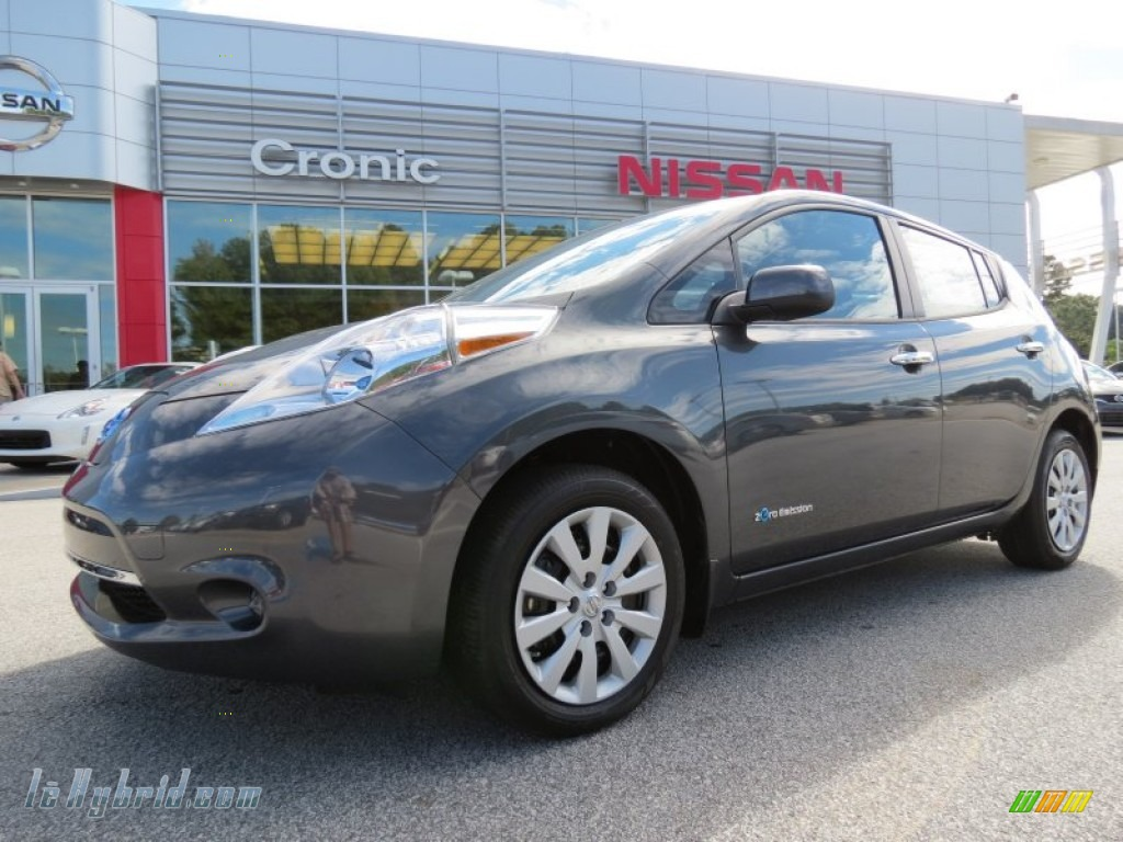 2013 nissan leaf s in metallic slate 417878 lehybrid for 80kw ac synchronous electric motor