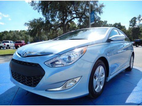 Blue Sky Metallic 2011 Hyundai Sonata Hybrid