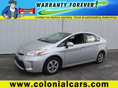 Classic Silver Metallic 2012 Toyota Prius 3rd Gen Two Hybrid