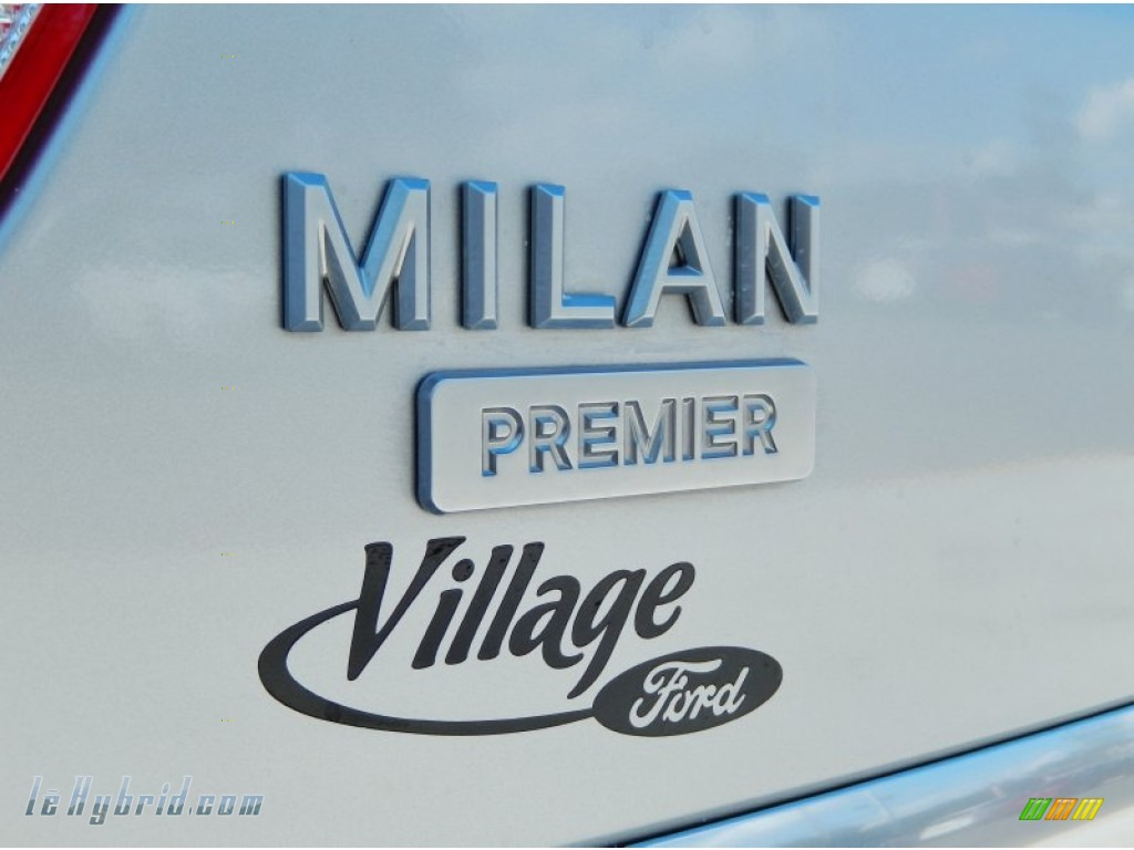 2010 Milan Hybrid Premier - Brilliant Silver Metallic / Dark Charcoal/Medium Light Stone photo #8