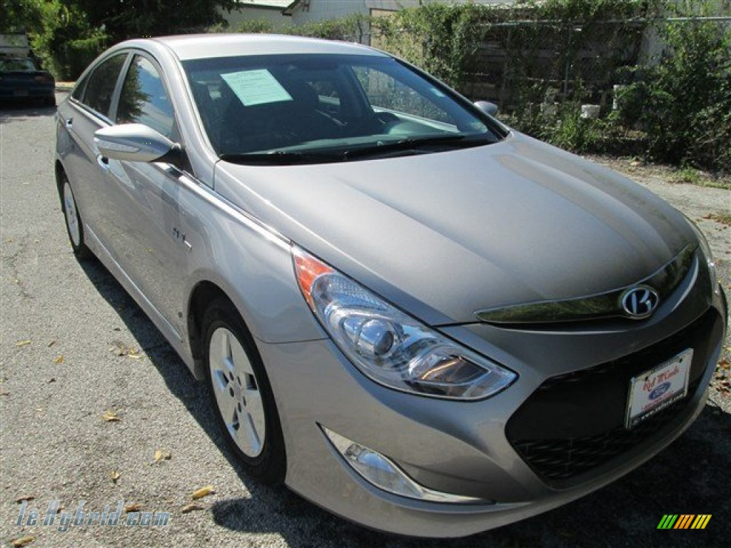2011 Sonata Hybrid - Harbor Gray Metallic / Gray photo #1