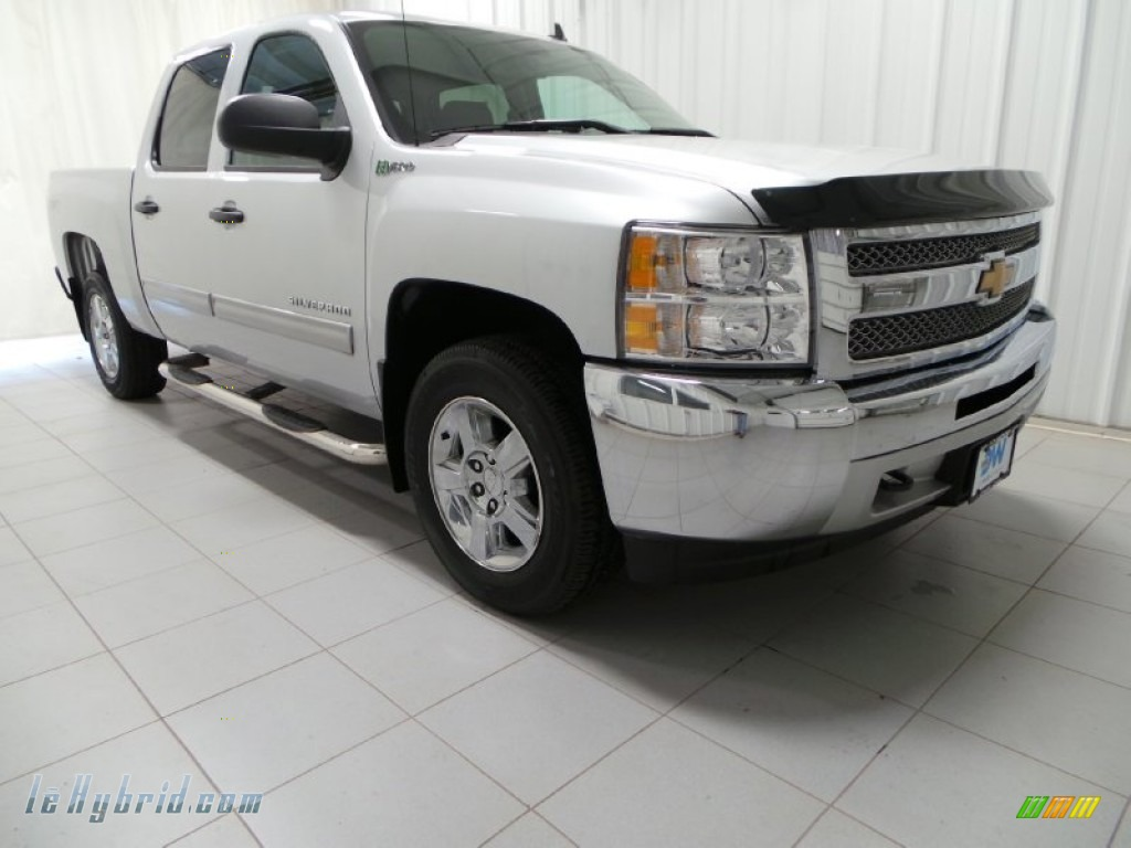 2013 Silverado 1500 Hybrid Crew Cab 4WD - Silver Ice Metallic / Ebony photo #1