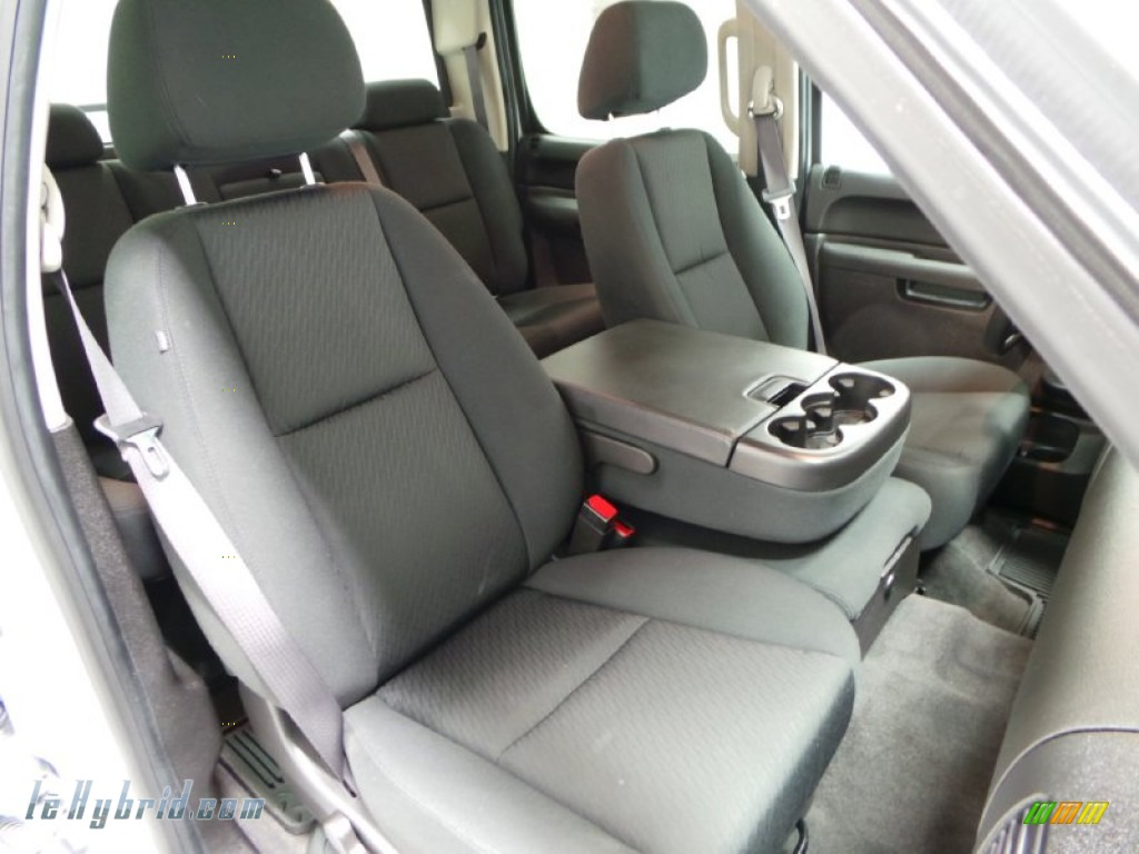 2013 Silverado 1500 Hybrid Crew Cab 4WD - Silver Ice Metallic / Ebony photo #9