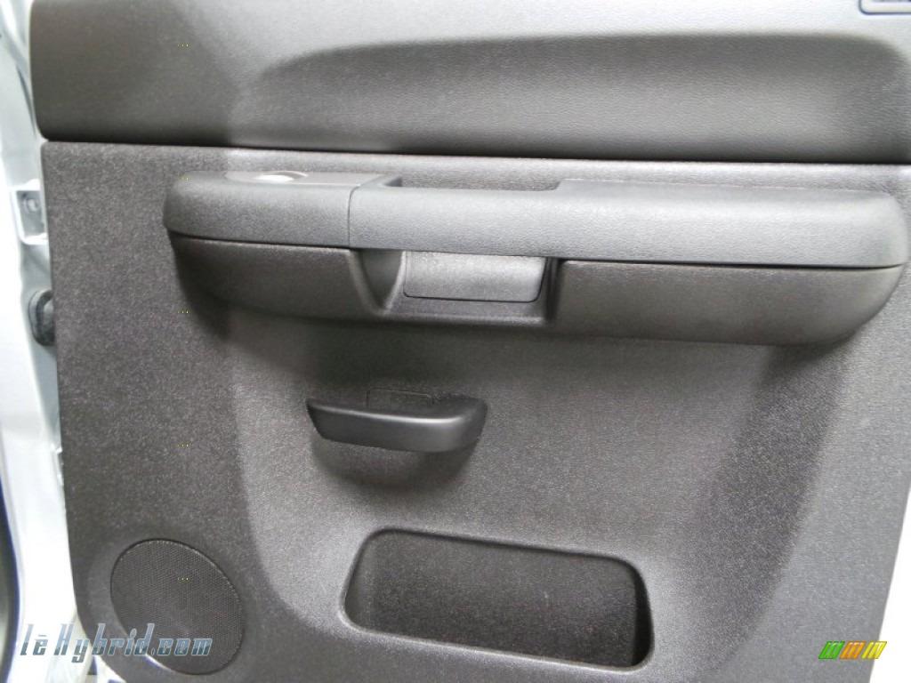 2013 Silverado 1500 Hybrid Crew Cab 4WD - Silver Ice Metallic / Ebony photo #14