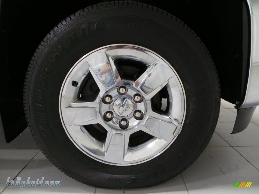 2013 Silverado 1500 Hybrid Crew Cab 4WD - Silver Ice Metallic / Ebony photo #24