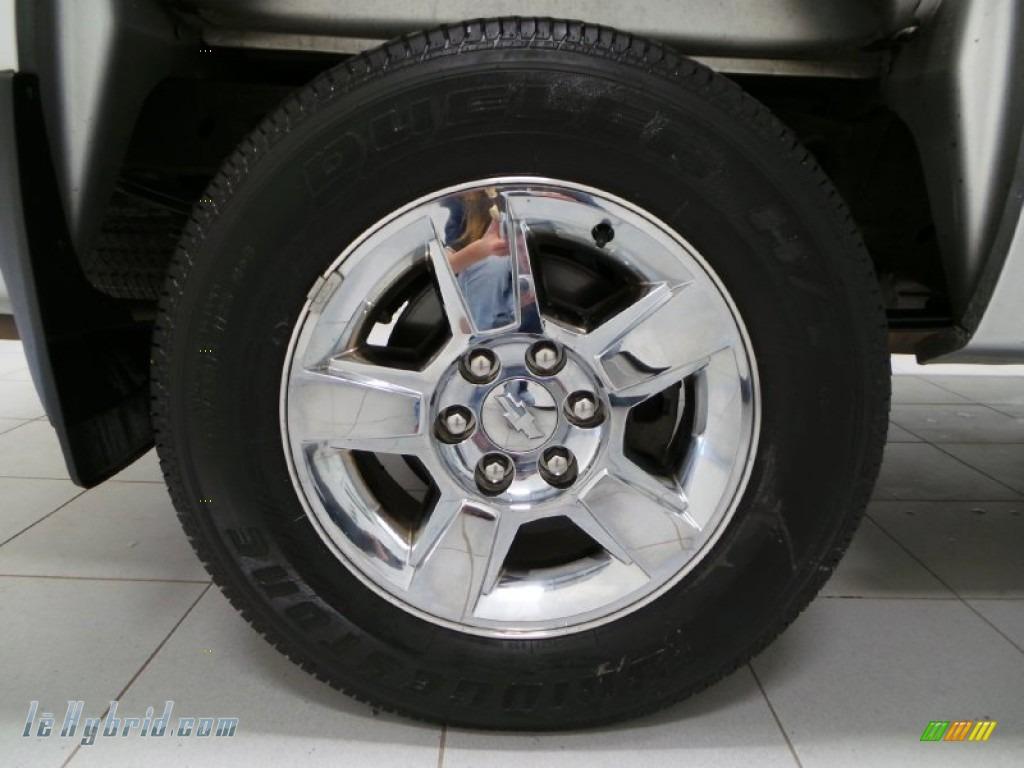 2013 Silverado 1500 Hybrid Crew Cab 4WD - Silver Ice Metallic / Ebony photo #25