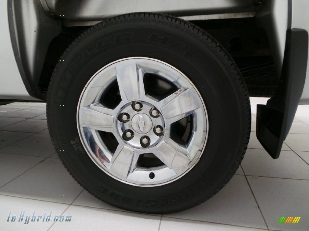 2013 Silverado 1500 Hybrid Crew Cab 4WD - Silver Ice Metallic / Ebony photo #26