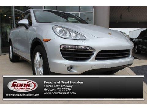 Classic Silver Metallic 2013 Porsche Cayenne S Hybrid