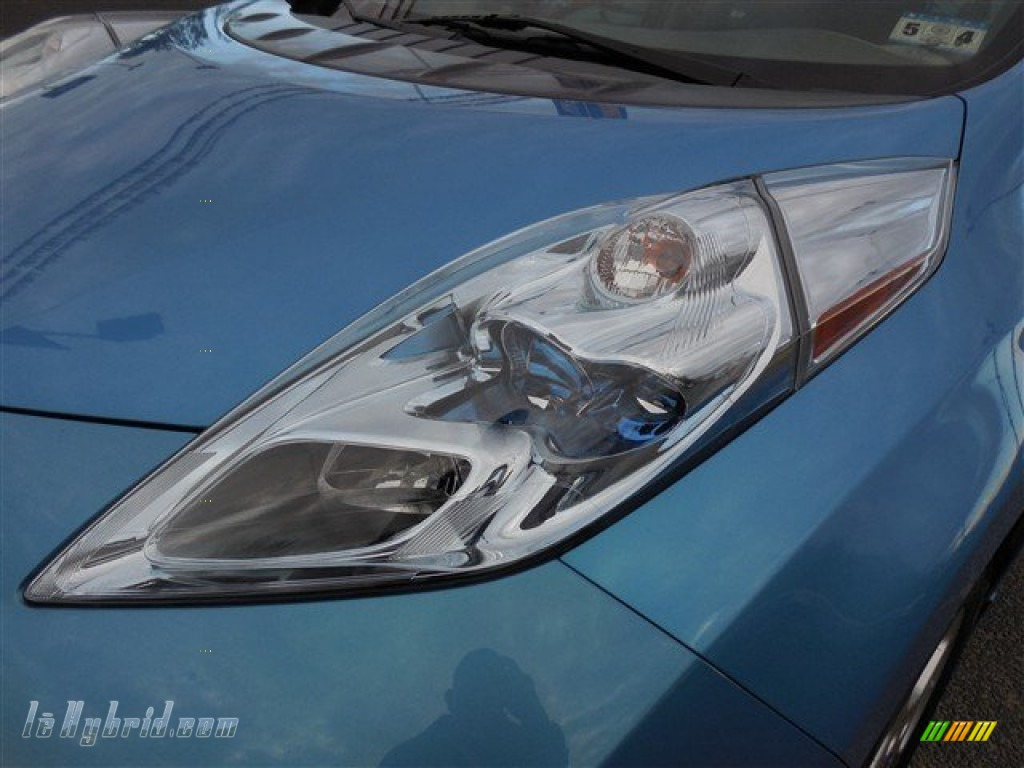 2011 LEAF SL - Blue Ocean / Light Gray photo #4