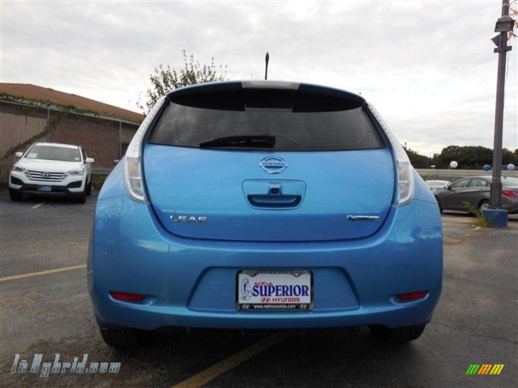 2011 LEAF SL - Blue Ocean / Light Gray photo #10