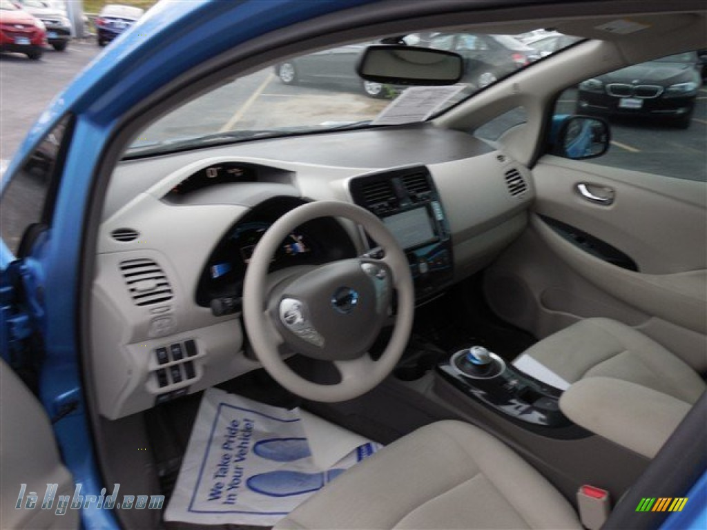2011 LEAF SL - Blue Ocean / Light Gray photo #15