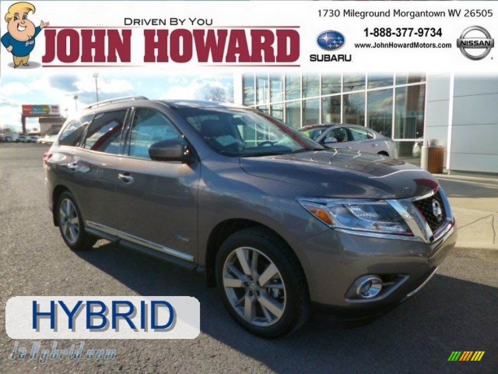 2014 Pathfinder Hybrid Platinum AWD - Mocha Stone / Charcoal photo #1