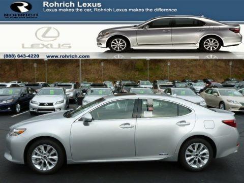 Silver Lining Metallic 2014 Lexus ES 300h Hybrid