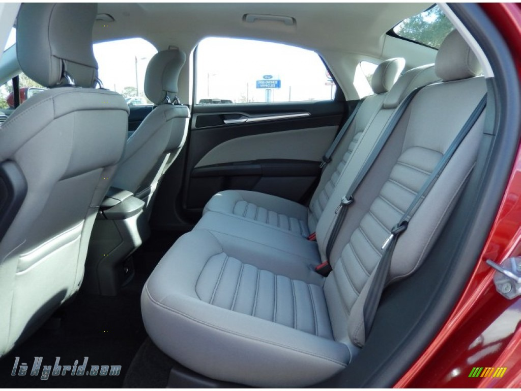 2014 Fusion Hybrid S - Ruby Red / Earth Gray photo #8