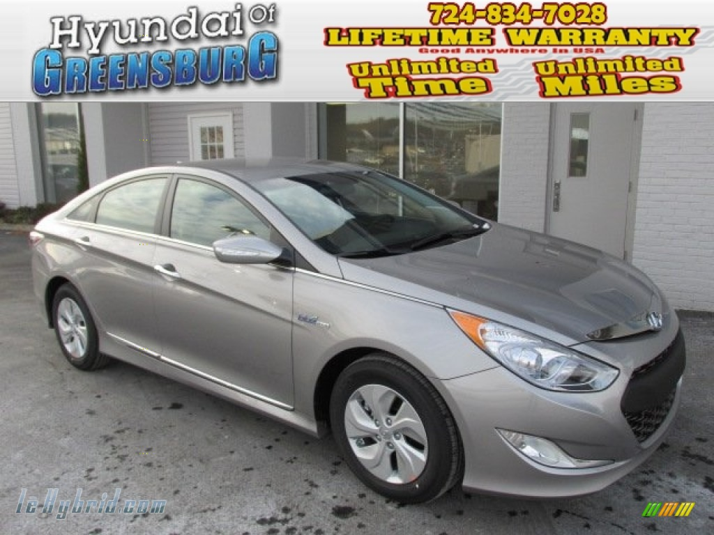2013 Sonata Hybrid Limited - Hyper Silver Metallic / Gray photo #1