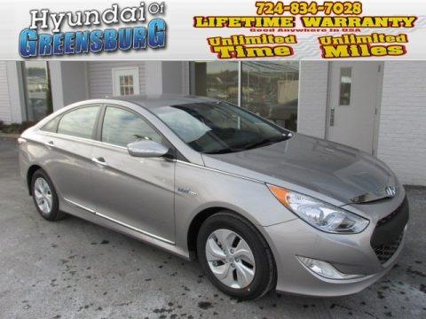 Hyper Silver Metallic 2013 Hyundai Sonata Hybrid Limited
