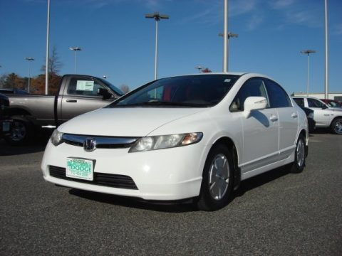 Taffeta White 2008 Honda Civic Hybrid Sedan