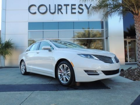 White Platinum 2014 Lincoln MKZ Hybrid