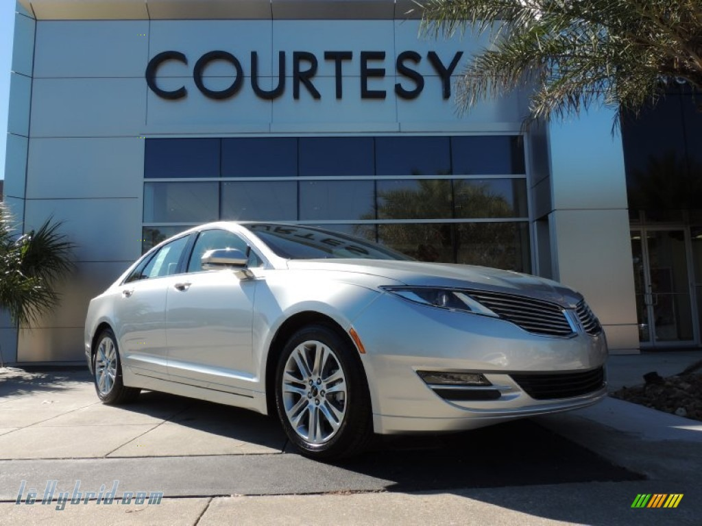 2014 MKZ Hybrid - Ingot Silver / Light Dune photo #1