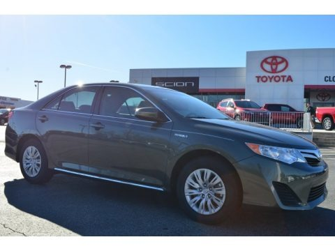 Cypress Pearl 2014 Toyota Camry Hybrid LE