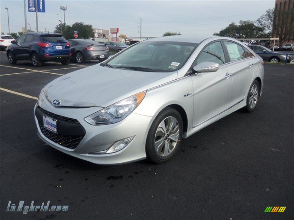 2013 Sonata Hybrid Limited - Silver Frost Metallic / Gray photo #1