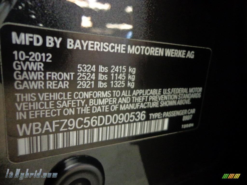 2013 5 Series ActiveHybrid 5 - Dark Graphite Metallic II / Black photo #15