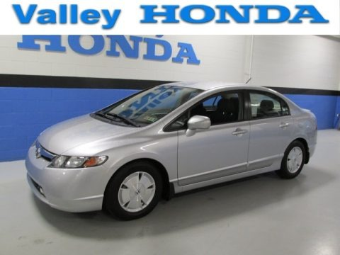 Alabaster Silver Metallic 2008 Honda Civic Hybrid Sedan