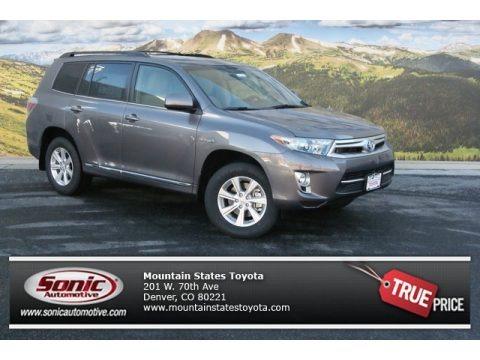 Predawn Gray Mica 2013 Toyota Highlander Hybrid 4WD