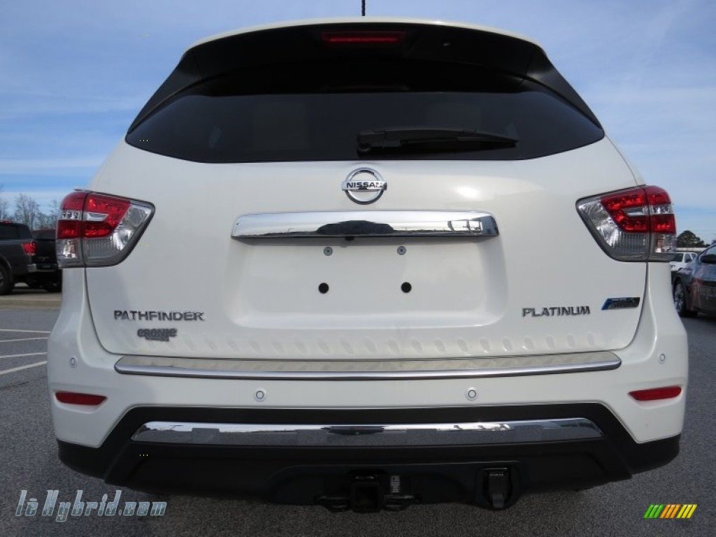 2014 Pathfinder Hybrid Platinum - Moonlight White / Almond photo #4