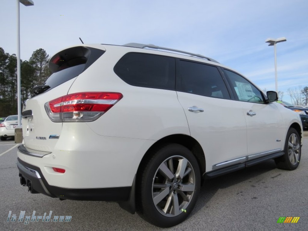 2014 Pathfinder Hybrid Platinum - Moonlight White / Almond photo #5