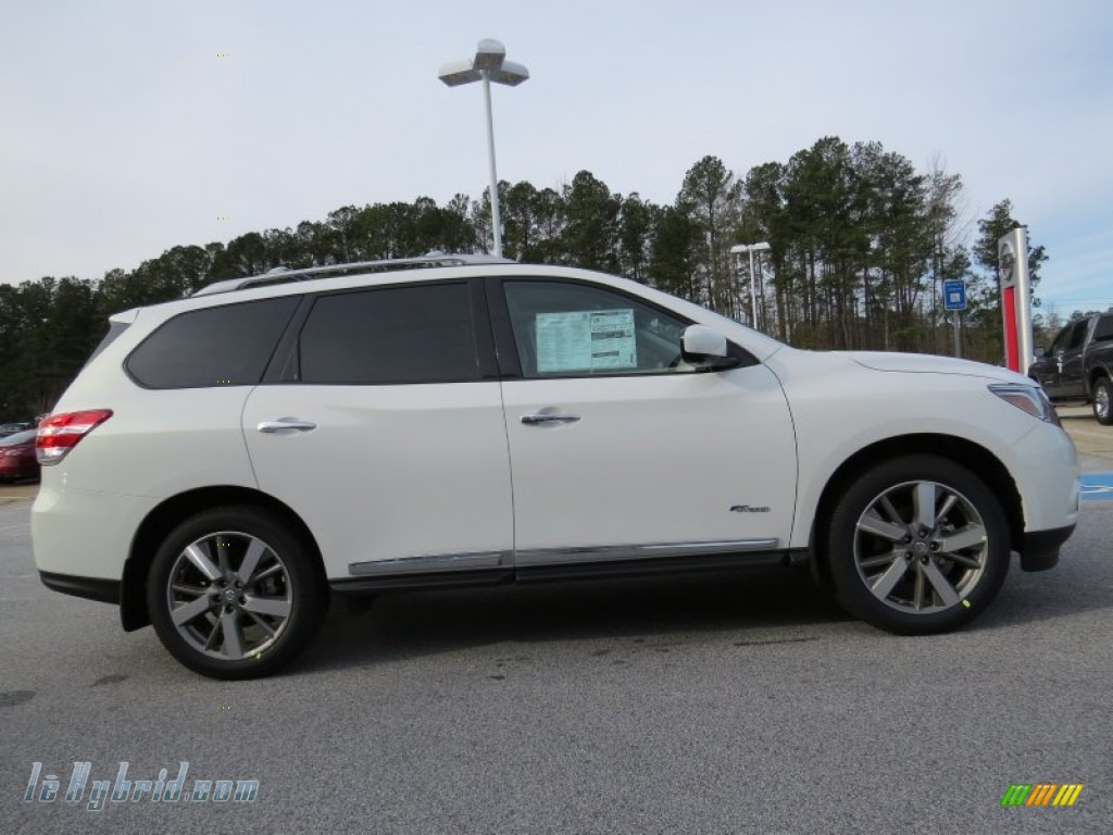 2014 Pathfinder Hybrid Platinum - Moonlight White / Almond photo #6