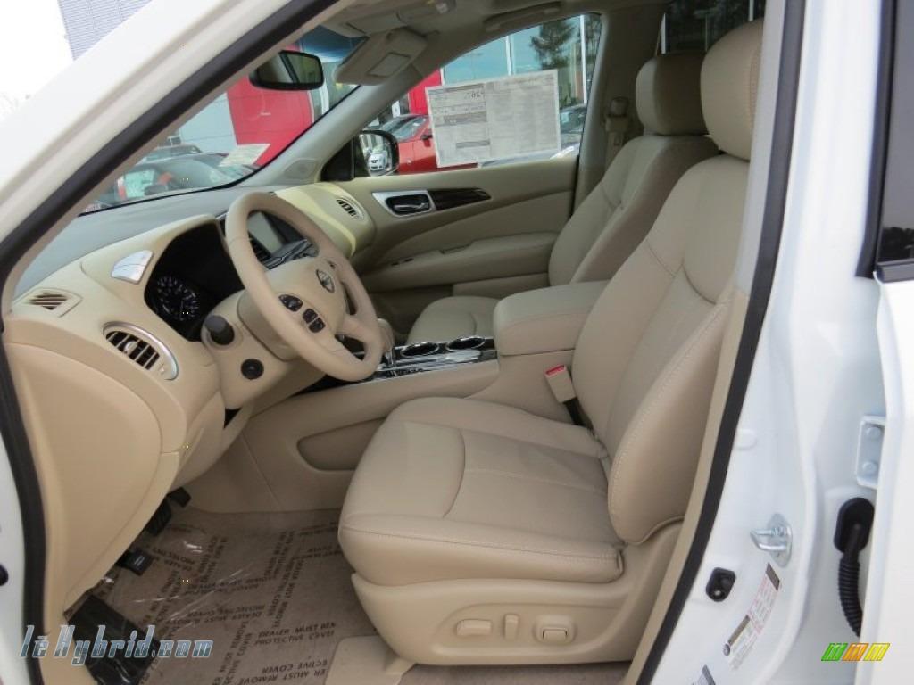 2014 Pathfinder Hybrid Platinum - Moonlight White / Almond photo #10