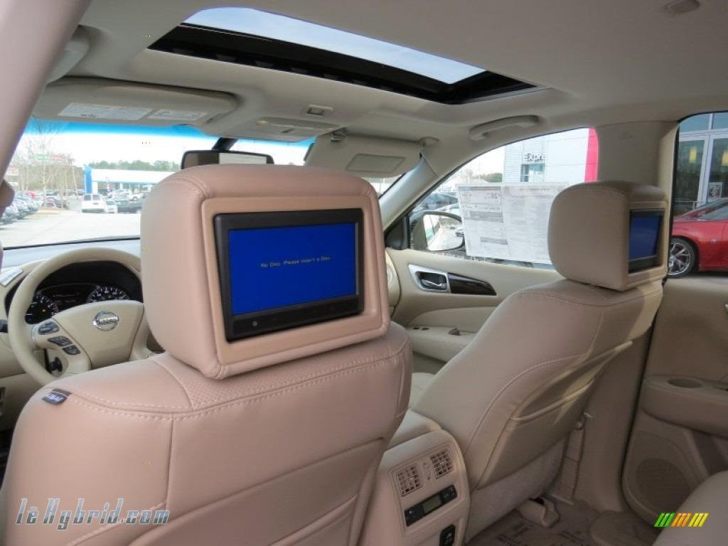 2014 Pathfinder Hybrid Platinum - Moonlight White / Almond photo #14