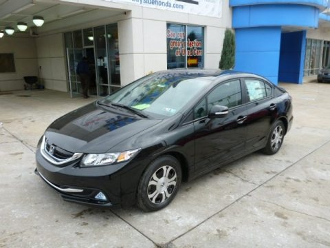 Crystal Black Pearl 2013 Honda Civic Hybrid Sedan