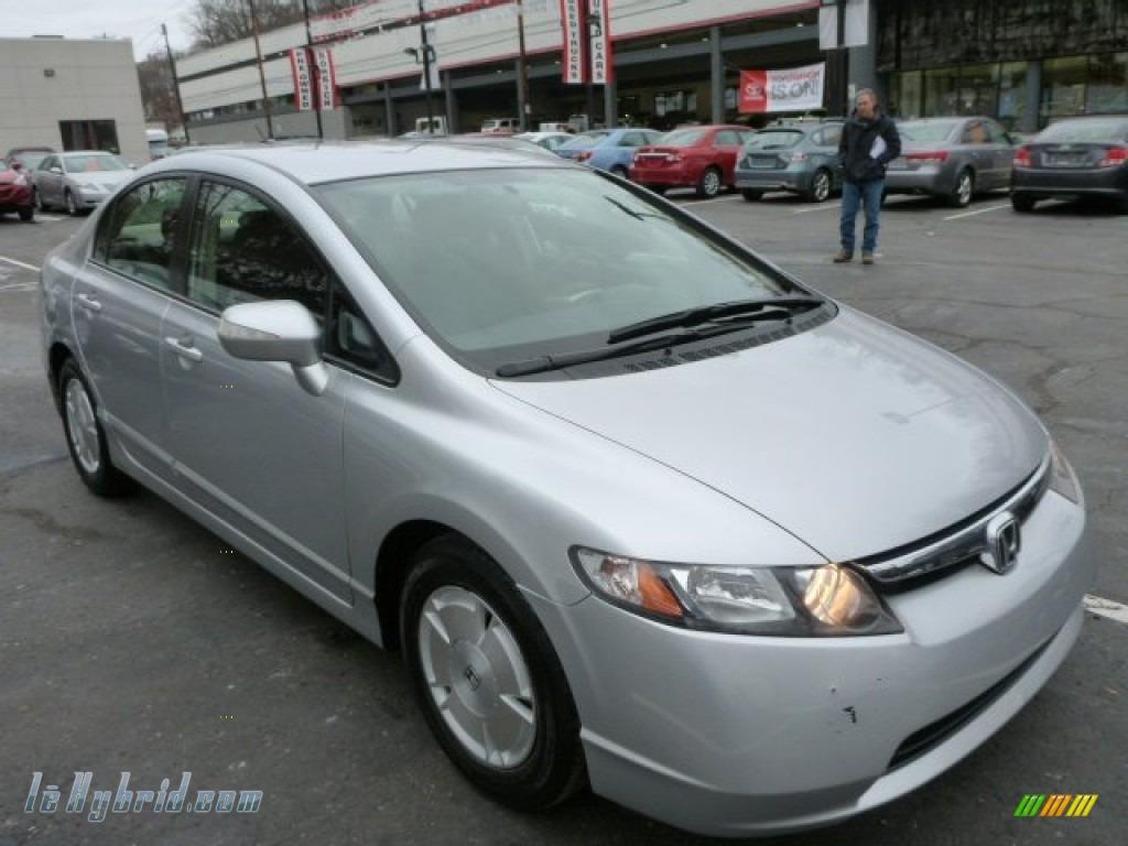 2008 Civic Hybrid Sedan - Alabaster Silver Metallic / Blue photo #1