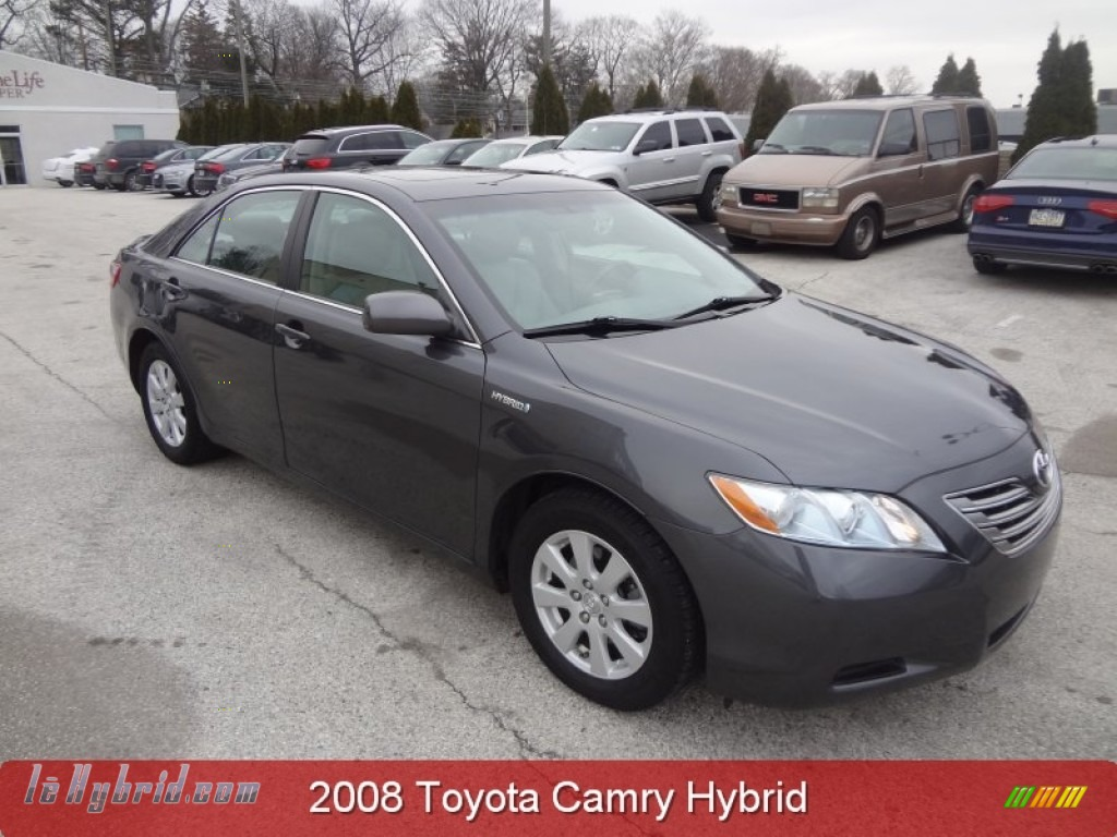 2008 Camry Hybrid - Magnetic Gray Metallic / Ash photo #1
