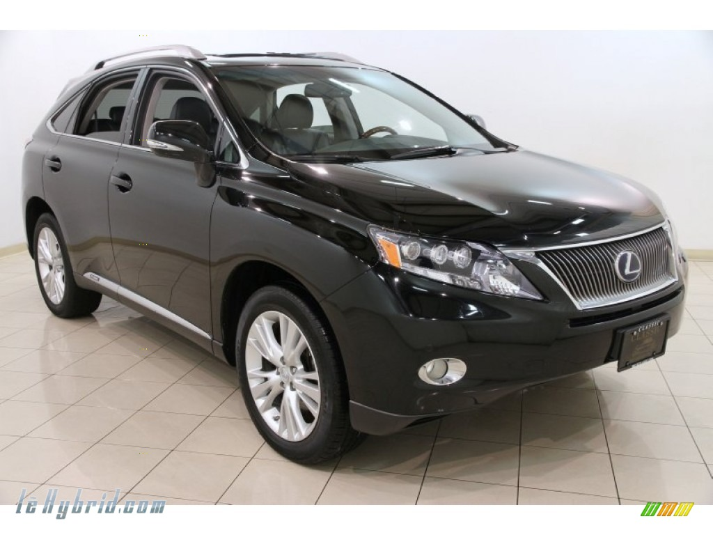 2010 RX 450h AWD Hybrid - Obsidian Black / Black/Brown Walnut photo #1