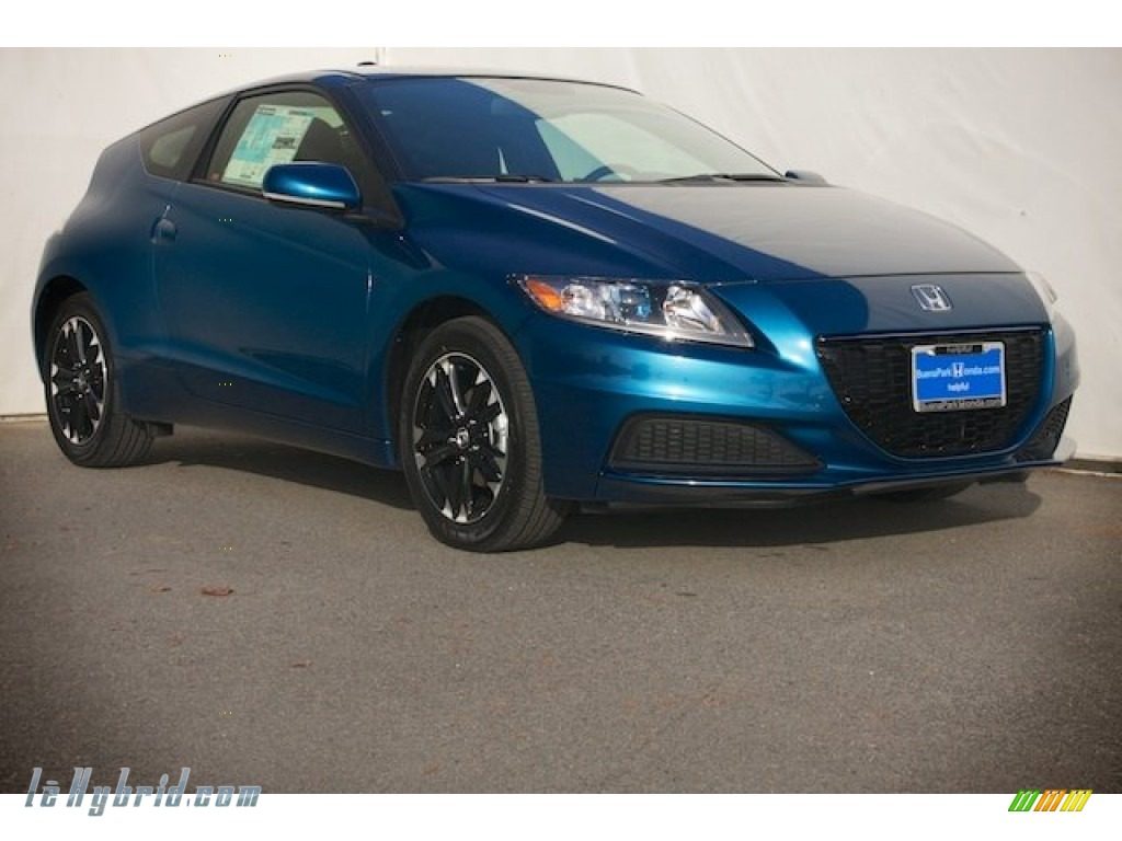 2014 CR-Z Hybrid - North Shore Blue Pearl / Black photo #1