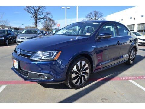 Tempest Blue Metallic 2014 Volkswagen Jetta Hybrid SEL Premium