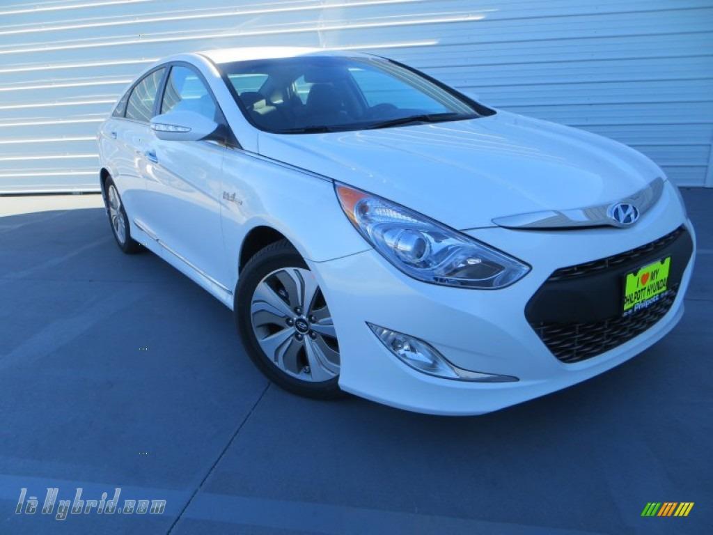 2013 Sonata Hybrid Limited - Porcelain White Pearl / Gray photo #1